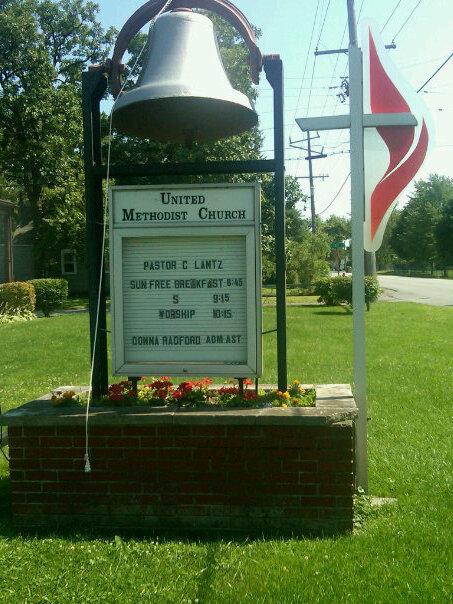 The Sign Outside Cedar Lake UMC